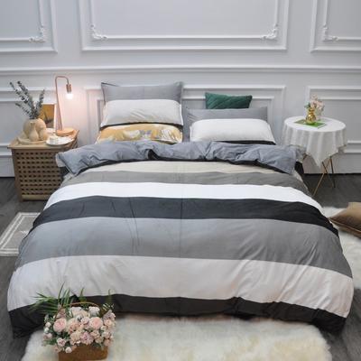 2019新款-水晶绒印花四件套 床单款1.5m(5英尺)床 凯森-绿