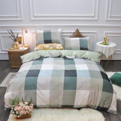 2019新款-水晶绒印花四件套 床单款1.5m(5英尺)床 时代风尚-绿
