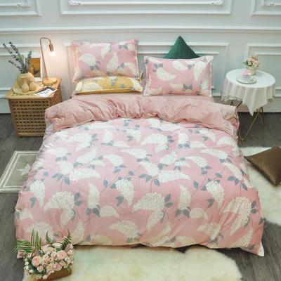 2019新款-水晶绒印花四件套 床单款1.5m(5英尺)床 香舞-粉