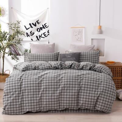 2020新款-生态色织水洗醇棉四件套 床单款1.5m(5英尺)床 玛卡龙-绿