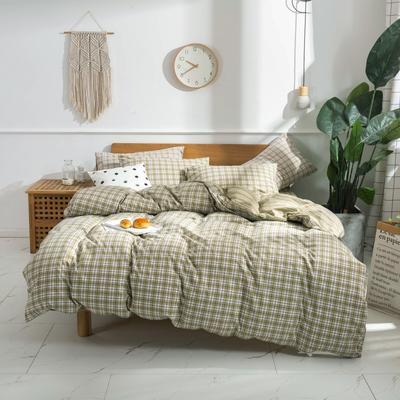 2020新款-生态色织水洗醇棉四件套 床单款1.5m(5英尺)床 青涩-绿