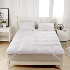 聚阁羽绒馆 羽绒床垫鹅绒床垫鹅毛床垫羽绒被羽绒枕 120*200cm 白色