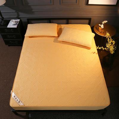 斜纹全棉夹棉床笠 150cmx200cm 黄驼