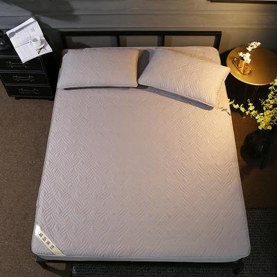 斜纹全棉夹棉床笠 150cmx200cm 灰色