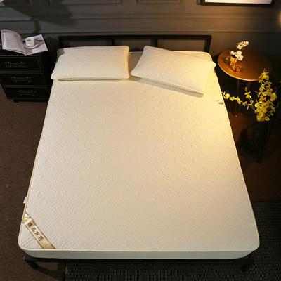 斜纹全棉夹棉床笠 150cmx200cm 米白