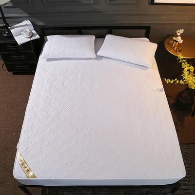 斜纹全棉夹棉床笠 150cmx200cm 增白