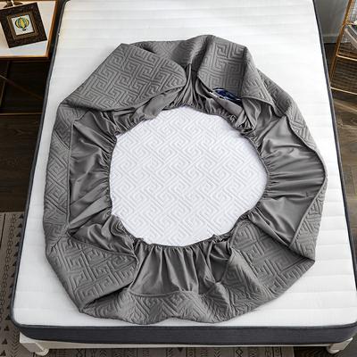 磨毛夹棉单床笠加厚床笠 90cmx200cm 灰色