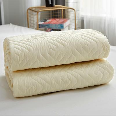 磨毛夹棉单床笠加厚床笠 90cmx200cm 米白