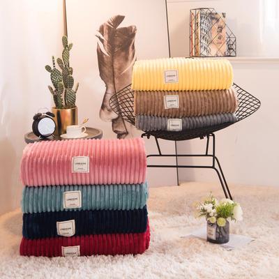 魔法绒毯牛奶绒毯纯色珊瑚绒毯 100cmx150cm 豆沙红