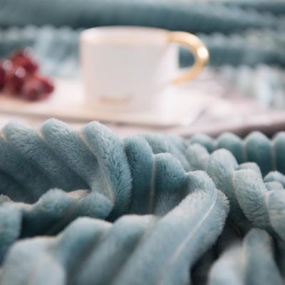 魔法绒毯牛奶绒毯纯色珊瑚绒毯 100cmx150cm 沉默绿