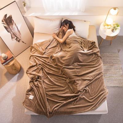 魔法绒毯牛奶绒毯纯色珊瑚绒毯 100cmx150cm 精英咖