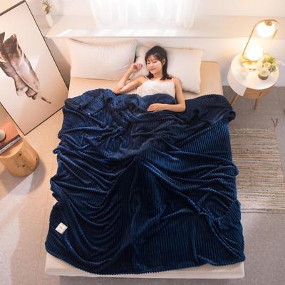 魔法绒毯牛奶绒毯纯色珊瑚绒毯 100cmx150cm 梦幻蓝
