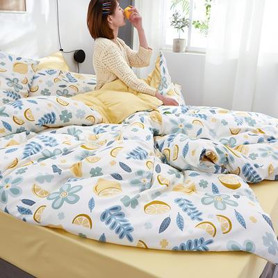 2020新款水洗真丝60天丝棉四件套 1.5m(5英尺)床 甜柠檬