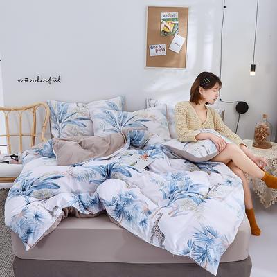 2020新款水洗真丝60天丝棉四件套 1.5m(5英尺)床 晚晴