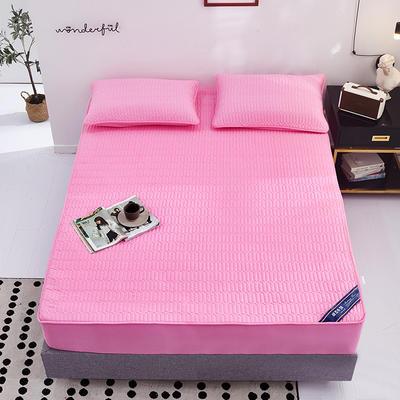 2020新款全棉夹棉床笠 120cmx200cm 粉色