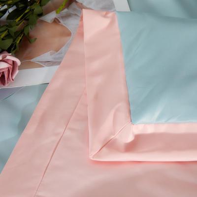2020新款水洗真丝天丝绸刺绣夏被四件套—草莓心语  萝卜兔(棚拍图) 200X230cm夏被四件套 草莓心语-蓝粉