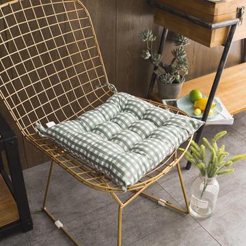 2018新款磨毛格子坐垫40*40餐椅垫
