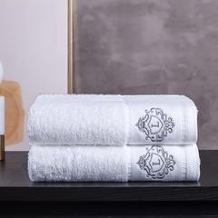 2018新款非凡缎档浴巾(灰L) 白色面巾(35*75cm)