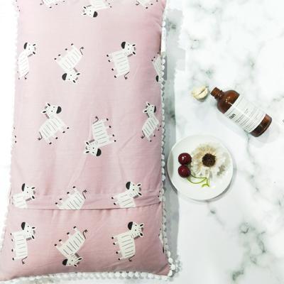2018新款-儿童枕芯 30*50cm 斑马粉色