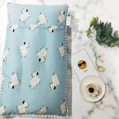 2018新款-儿童枕芯 30*50cm 斑马蓝色