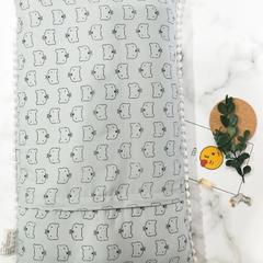 2018新款-儿童枕芯 30*50cm 猫先生绿色