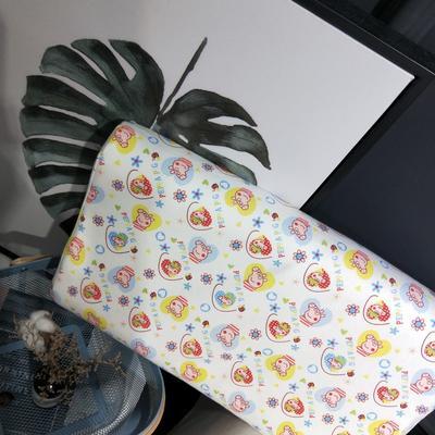 2018新款-乳胶枕系列(儿童乳胶枕) 27*45cm高度6cm 满头小猪佩奇