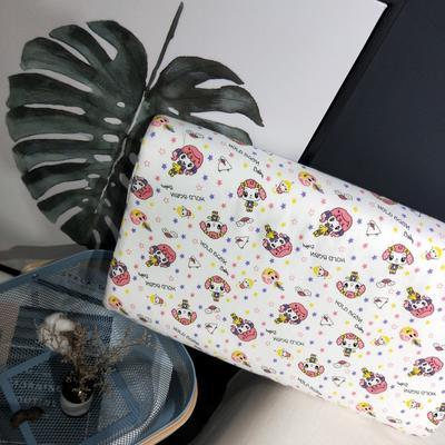 2018新款-乳胶枕系列(儿童乳胶枕) 27*45cm高度6cm 小女孩