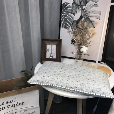 2018新款ins仪珍棉-儿童枕 30*50cm 猫先生