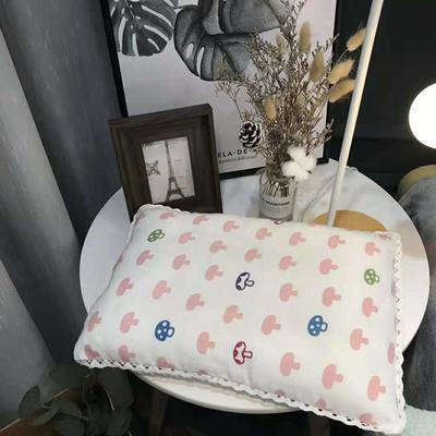 2018新款纱布枕--儿童枕 32*48cm 粉色蘑菇