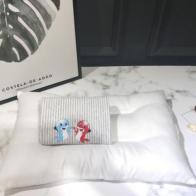 2018新款天竺棉--儿童枕 33*50cm 海豚