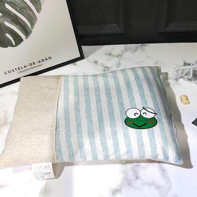 2018新款天竺棉--儿童枕 33*50cm 青蛙