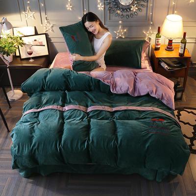 2019新款宝宝绒四件套 1.8m(6英尺)床 豪放绿
