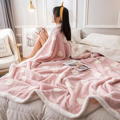 2019新款立体提花舒棉绒毛毯 200cmx230cm 小爱心