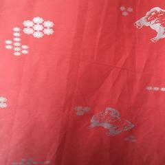 2018新款40支全棉防羽布印花被芯面料 宽幅245cm 4046-砖红