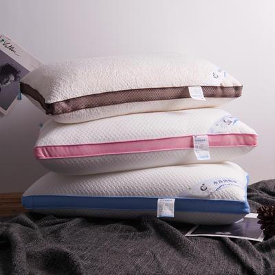 2019新款水洗热熔枕 全棉水洗棉纯棉针织棉枕芯枕头48*74cm 粉色