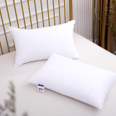 2019新款全棉纯棉羽丝绒酒店枕芯 可水洗机洗五星级枕头 爆款 低枕