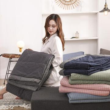 2020新款全棉色织水洗棉夏被 夏凉被空调被单双人夏季薄被子爆款被芯