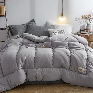 2018新款立体水洗棉冬被 150*200  4斤 立体高级灰