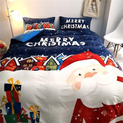 2019秋冬保暖澳洲牛奶绒四件套-实拍图 1.5m床单款四件套 牛奶绒 圣诞老人