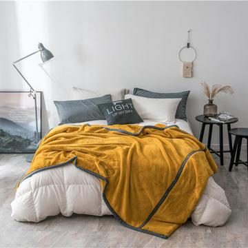 2018新款贝贝绒毯 150*200cm 芥末黄