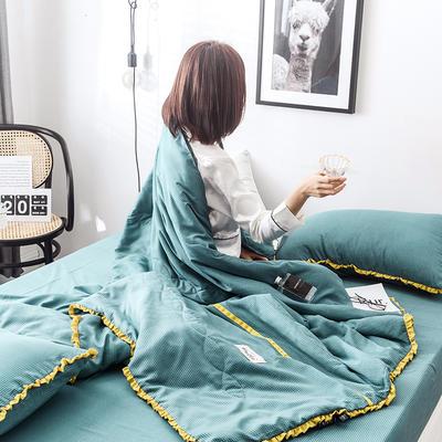2019新款奢丝绵夏被四件套 150*200 10格调-绿