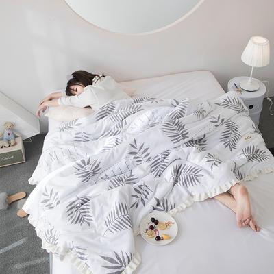 2019新款水洗棉公主风夏被 150x200cm 艾琳 白