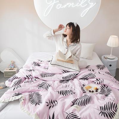 2019新款水洗棉公主风夏被 150x200cm 艾琳 粉