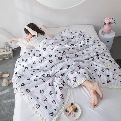 2019新款水洗棉公主风夏被 150x200cm 婉琪 白