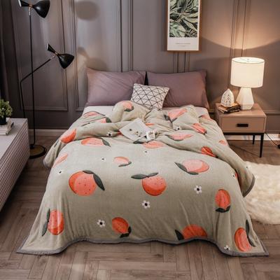 2019新款法莱绒毛毯 1.2*2 橘子