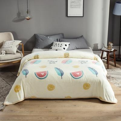 2019新款法莱绒毛毯 0.7*1.0 夏日风情
