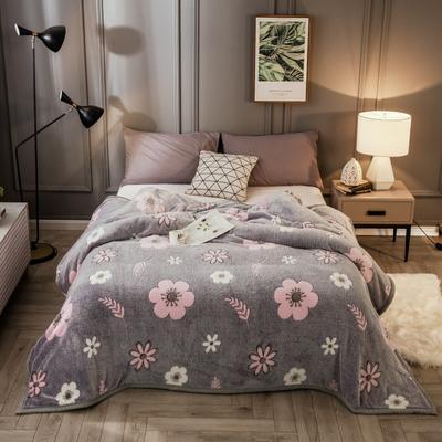 2019新款法莱绒毛毯 1.2*2 香韵