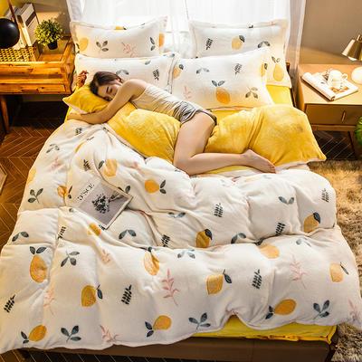 2019新款雪花绒四件套 1.2m床单款三件套 一颗柠檬