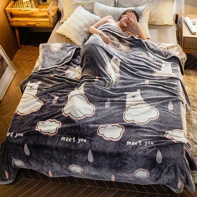 2019新款法莱绒毛毯 0.7*1.0 罗拉日记