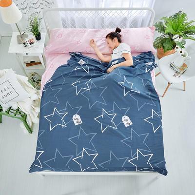 纯棉隔脏睡袋 闪亮之星80*230cm
